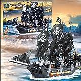 Kazi Building Blocks Caribbean Pirate Black Pearl Ship Boat Gift #87010 1184 Pieces by KAZI