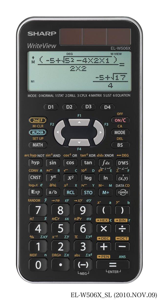 Sharp EL-W506 X-SL - Calculadora científica (556 funciones, 18,3 3 x 9 x 3 18,3 cm, solar y a pilas) f53bf7