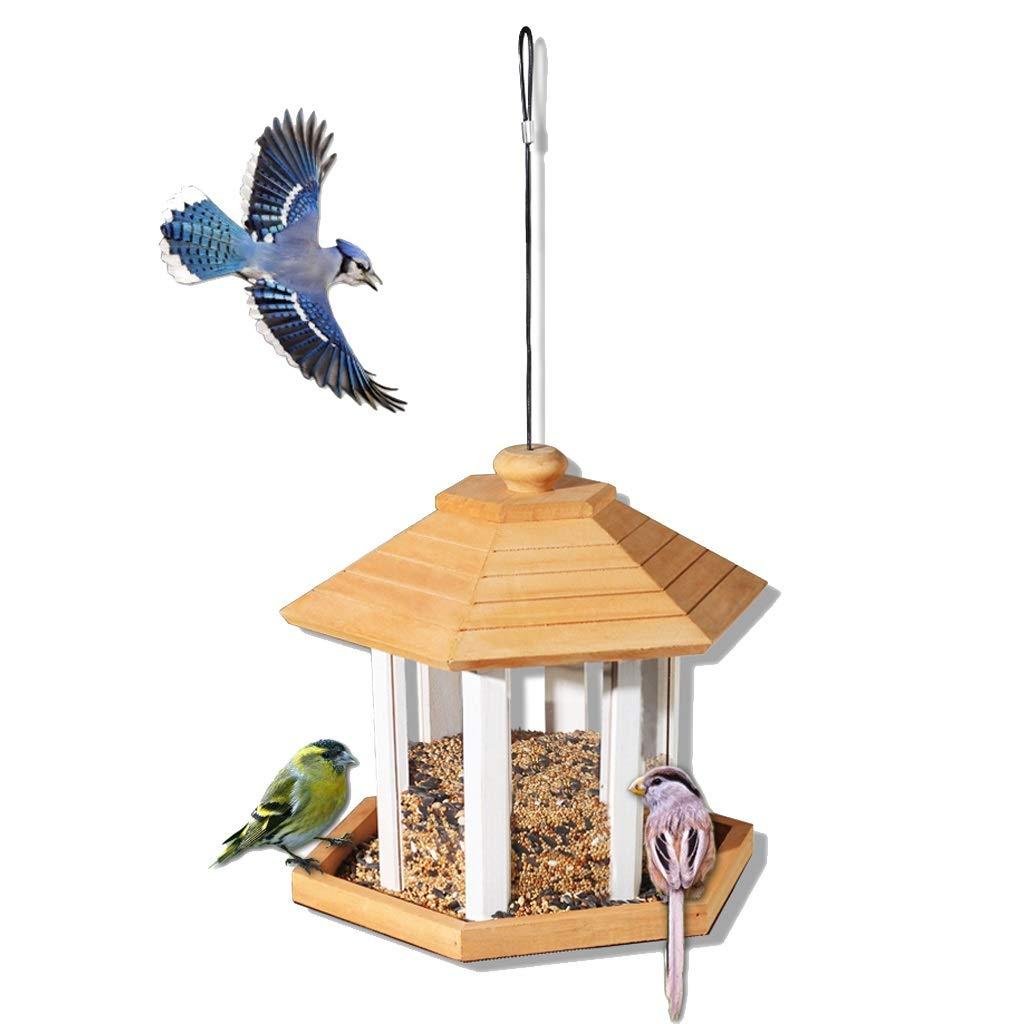 NYDZDM Bird Feeder Hanging Seed Feeder Wild Bird Garden Feeding Station Outdoor Courtyard Garden Decoration