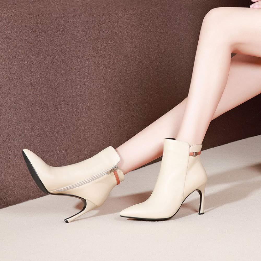 QINGMM Frauen Spitzen Lederstiefel Einfarbig Wildleder Niedrigen Ferse Frauen Stiefel Stiefel Stiefel Herbst Mode Party Stiefel 1a768b