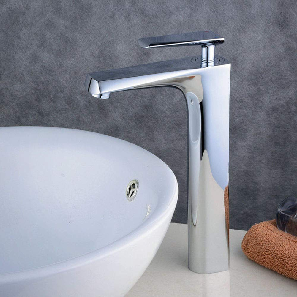 LHbox Basin Mixer Tap Bathroom Sink Faucet All Copper White Basin Faucet hot and Cold Single Hole Bathroom Console Sink Washbasin Faucet White Kitchen & Bathroom Fixtures