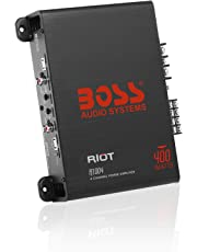 BOSS Audio Elite R1004 4 Channel Car Amplifier – 400 Watts, Full Range, Class A/B, 2-4 Ohm Stable, Great for Car Speakers and Car Stereo