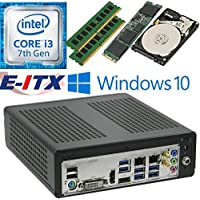 E-ITX ITX350 Asrock H270M-ITX-AC Intel Core i3-7100 (Kaby Lake) Mini-ITX System , 32GB Dual Channel DDR4, 240GB M.2 SSD, 2TB HDD, WiFi, Bluetooth, Window 10 Pro Installed & Configured by E-ITX