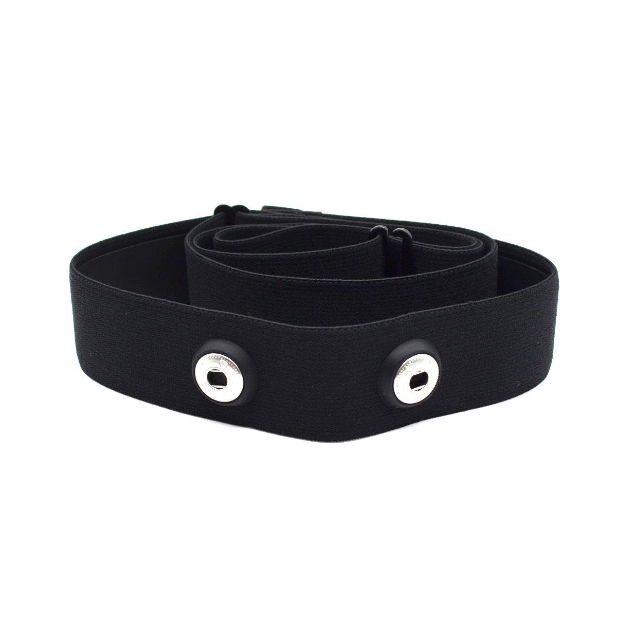 Cinghia per cardiofrequenzimetro Garmin, Wahoo e Polar, regolabile, da posizionare sul petto, ideale per sport e fitness, CooSpo Original HRM Belt Black product image