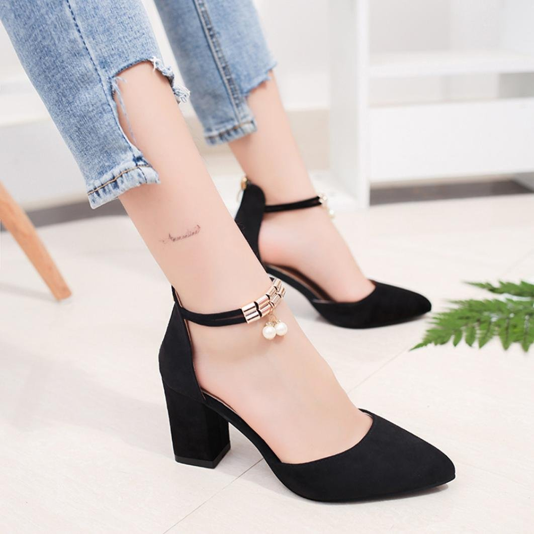22d8a03de635f High Heels Wedge Sandals Office Shoes Pointed Toe Rhinestone Wedding ...