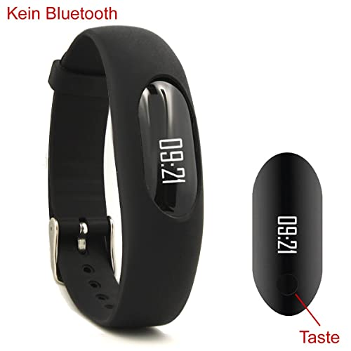 NAKOSITE PB2433 Best Fitness Tracker, Activity Tracker, Pedometer, Step Counter, Calorie Counter, Distance Calculator, Sleep Monitor, and Sport Watch with improved BUCKLE. No Bluetooth, No APPs, Easy Settings. Used for Walking or Running. Colour is Black, 365 Days Guarantee. Bonus is Fitness Ebook in Simple English