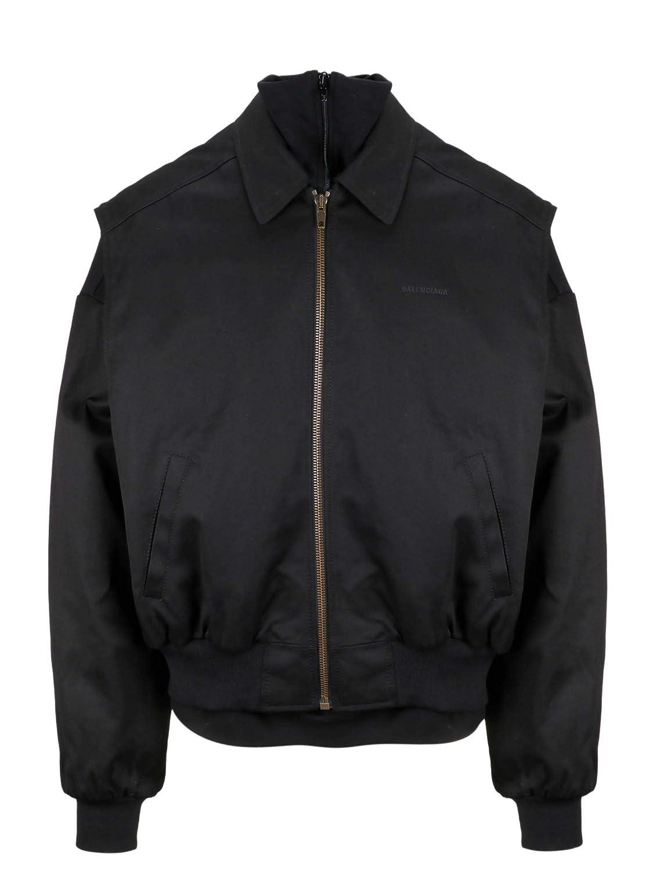 Brand Size 48 Balenciaga Men's 556233TDP111000 Black Cotton Jacket