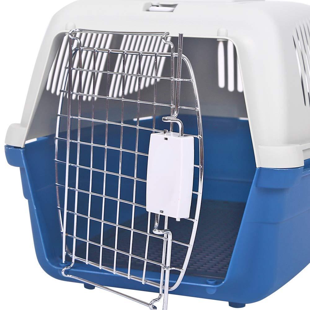 bluee M bluee M Pet Air Box Dog Air Cage Cat Puppy Check Cage Aircraft Air Cage Teddy golden Hair Box Pet Supplies,bluee,M