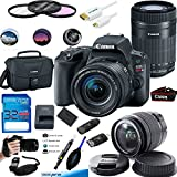 Canon EOS Rebel SL2 Kit with EF-S 18-55mm f/4-5.6 IS STM Lens Digital SLR Cameras (Black) + Canon EF-S 55-250mm f/4-5.6 IS STM Telephoto Zoom Lens - Deal-Expo Accessories Bundle