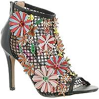 Betsey Johnson DAFADIL Bootie, Black Multicoloured, 6 M US