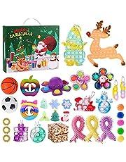 iSayhong Fidget Pack Adventskalender 2021, Kerst Countdown Kalender Fidget Toys Set Pack, Fidget Box Surprise Gifts voor Party Favor, Adventskalender 19, Eén maat