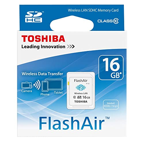 Toshiba SD-F16AIR(BL8 16GB FlashAir 10MB/s Class 10 Wireless LAN SDHC Card