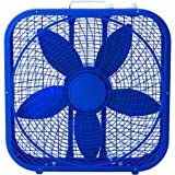 20 Top-Mounted Controls Cool Colors Box Fan, Royal Blue