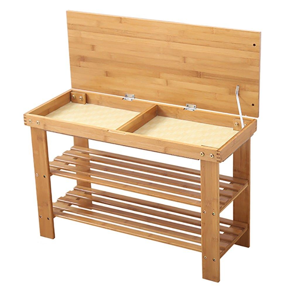Lagerung Hocker LXF Bambus Schuh Rack Bench 2 Tier Schuhständer Rack Storage Aufbewahrungsbox Hocker Holz Farbe (größe   50  27  46cm)  502746cm