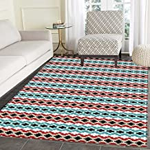 Afghan Area Rug Classical Tribal Eye Dazzler Pattern Colorful Ethnic Illustration Timeless Motifs Indoor/Outdoor Area Rug 2'x3' Multicolor