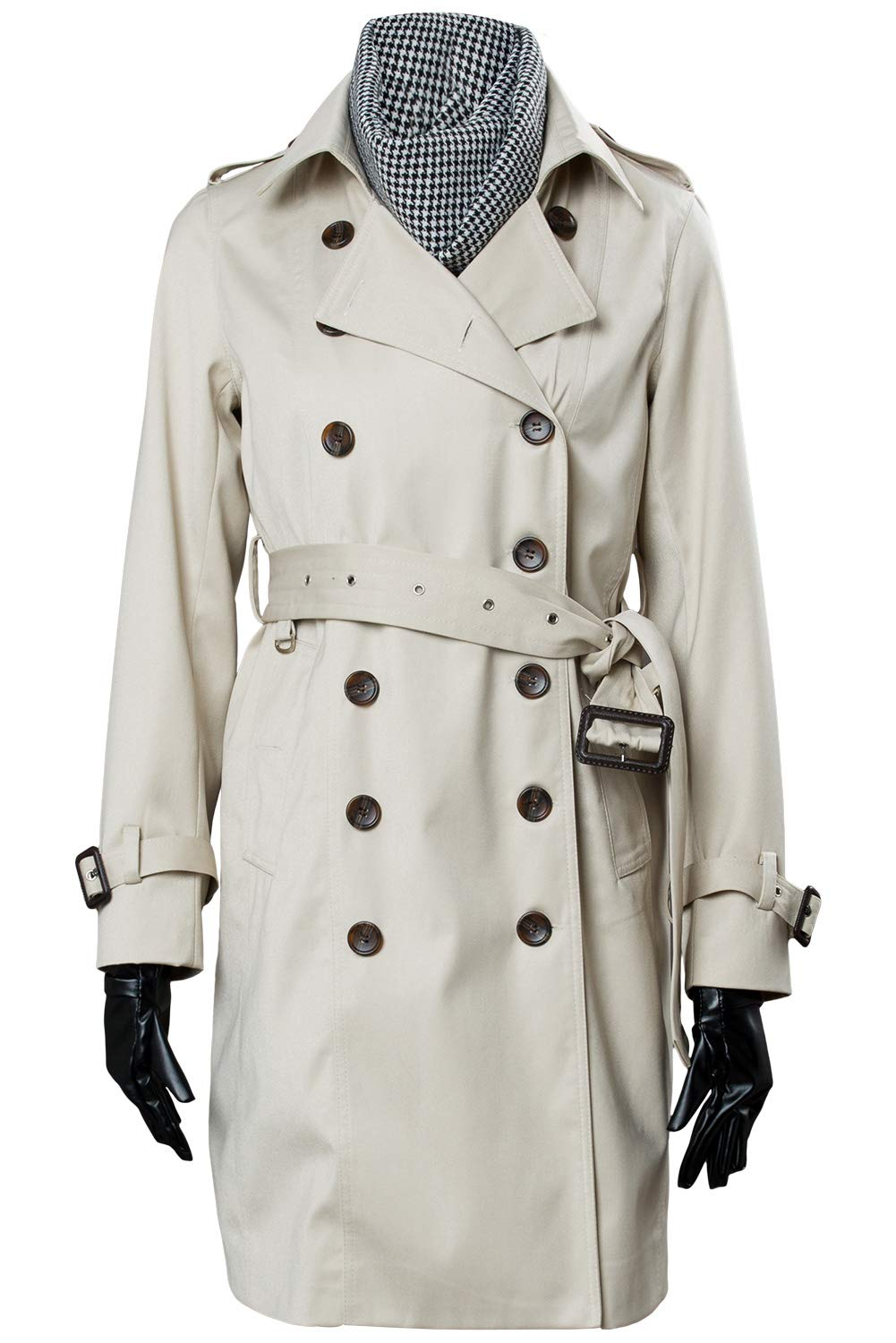 MingoTor Resident Evil 2 Remake Re Ada Wong Wang Trenchcoat + Rotes Kleid Cosplay Kostüm Damen XS Beige L