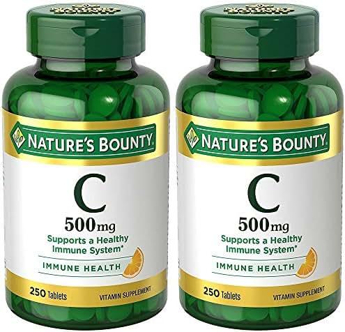 VIT C 500 mg, 2 Bottles (250 Count)