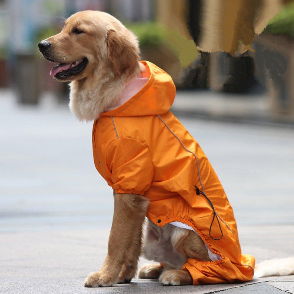 orange XXL orange XXL Pet Hooded Raincoat(orange XXL)