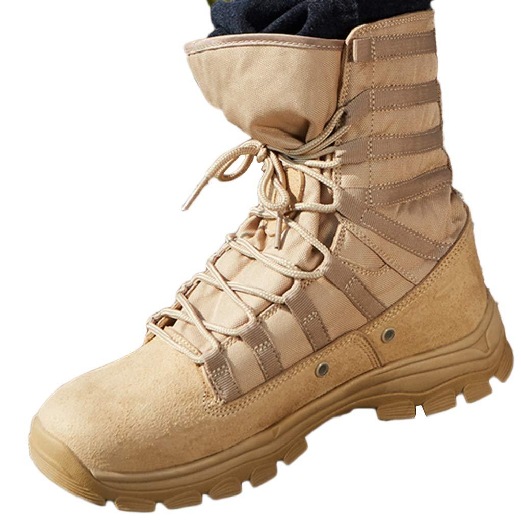 Mens Desert Combat stivali Patrol Army Armed avvio in Pelle Jungle Military Tactical sautope Lace-Up Calzature pratiche,SeColoreee,44