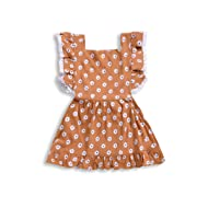 ZOELNIC Baby Girls Sleeveless Romper Toddler Girl Floral Bow Halter + Headband
