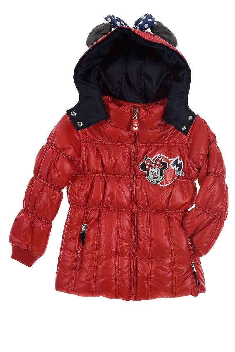 Rouge 8 ans Doudoune, Manteau à Capuche Fille Minnie Mouse