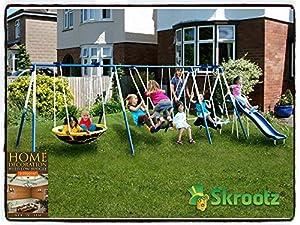 Amazon.com: Metal Swing Set Outdoor Patio Swings Kids ...