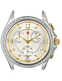 Michele Women's Belmore Chronograph 18mm Two-Tone Diamond Watch Gold/Silver