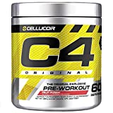 Cellucor C4 Original Pre Workout Powder, Energy Drink Supplement with Creatine, Nitric Oxide & Beta Alanine, Fruit Punch, 60 Servings