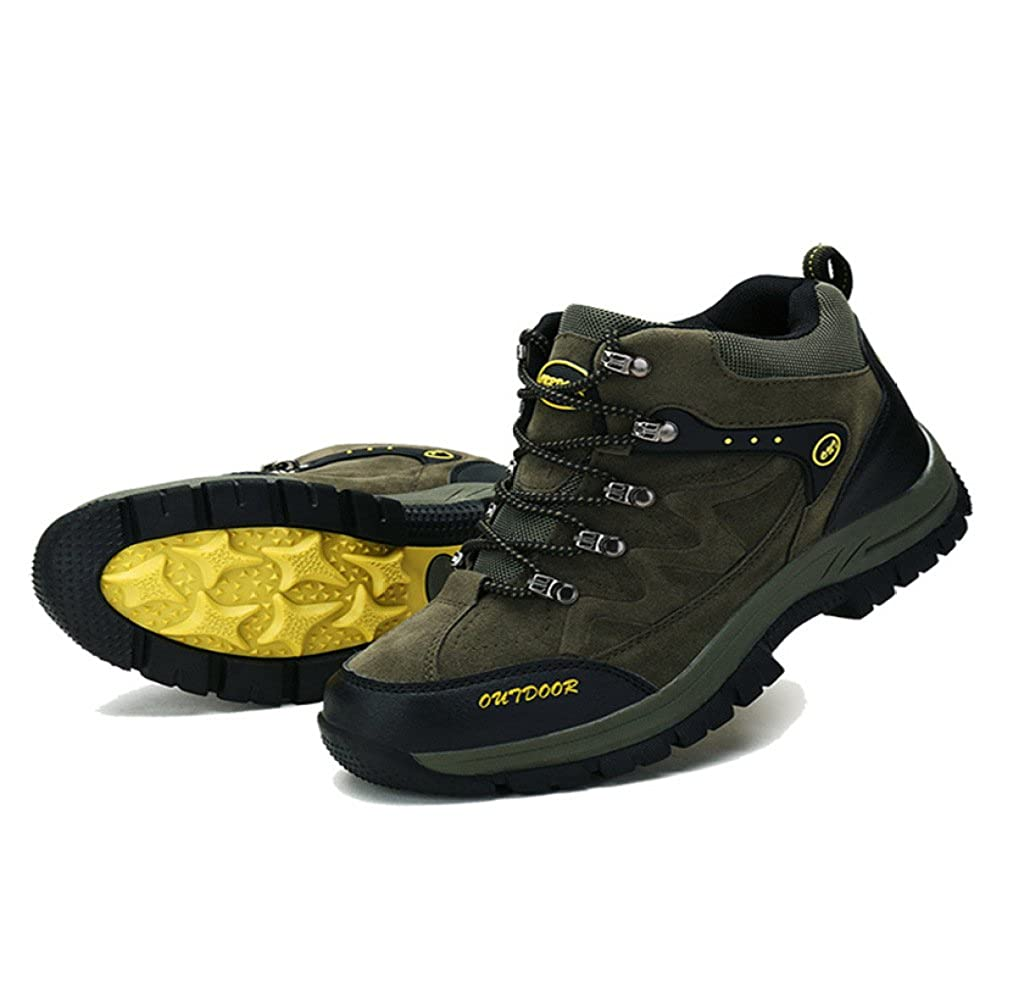 Nihiug Mens High Rise Wanderschuhe Trekking Trekking Trekking Schuhe Shockproof Große Größe Herrenschuhe Outdoor Sports Rutschfeste Verschleißfestigkeit 3f61c8