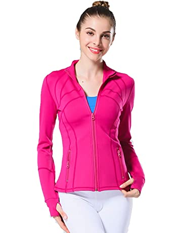 d6a283c1530 UDIY Women Running Yoga Slim UV Protect Sweatshirts with Two Side Pocket  Jacket Coat