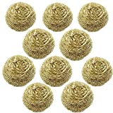 Diagtree 10 Packs Solder Tip Cleaning Wire Brass Sponge, Replacement Cleaning Copper Wire for Soldering Station Tip Cleaner Interchangeable for for Metcal AC-BP, Hakko 599B, 599-029