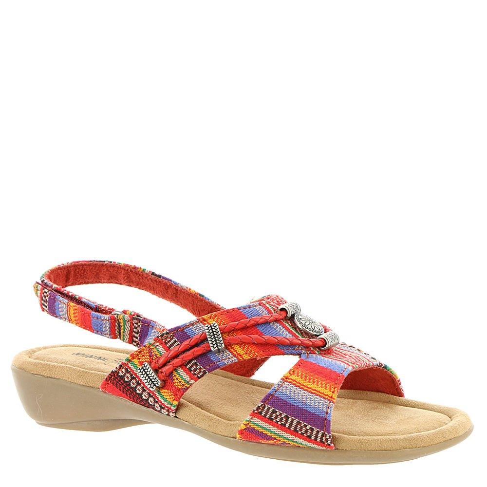 Minnetonka Silvie Women N/S Open-Toe Canvas Slingback Sandal B079VND1FL 10 E US|Multi-coral