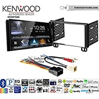 Volunteer Audio Kenwood DDX9704S Double Din Radio Install Kit with Apple Carplay Android Auto Fits 2002-2005 Explorer, 2001-2004 Mustang