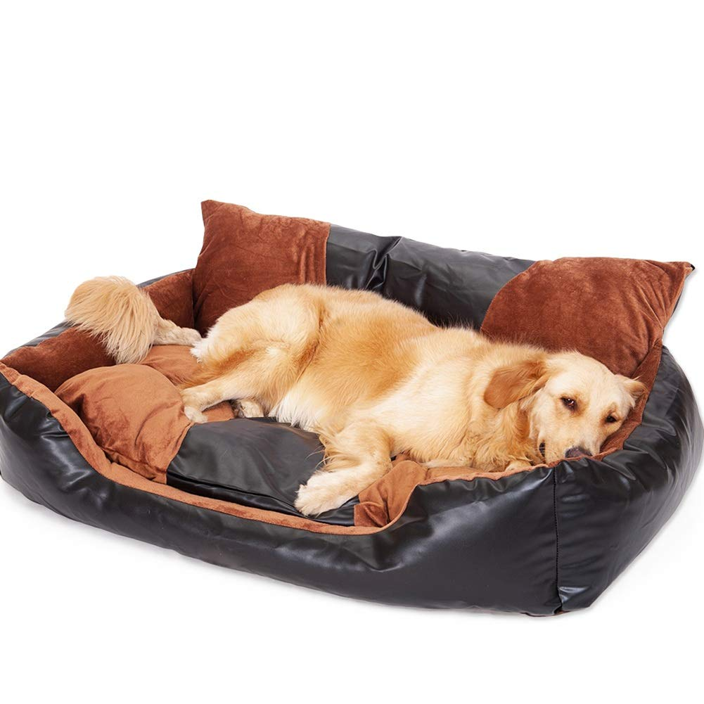 M(70×55×34cm 15kg) Dog Bed for Large to Medium Size Dogs Cats Super soft, Pu leather Detachable and Washable, for All Dogs Cats (Size   M(70×55×34cm 15kg))