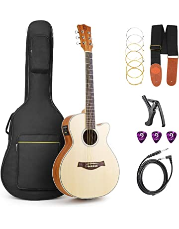 Vangoa Acoustic Electric Guitar Cutaway 36 Inch 3/4 Acoustic Guitars Beginner Kit with Guitar