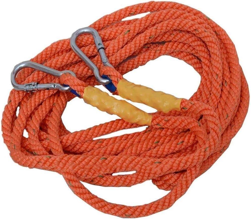 HAIZHEN 16MM屋外の安全ロープ、メタルカラビナ付き太字ソフト高所作業ロープ-10M / 20M / 30M / 40M / 50M (Size : 40M)  40M