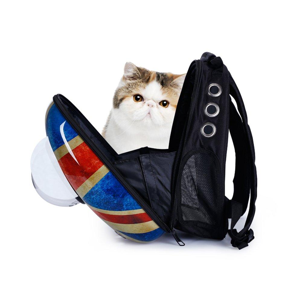 Retro British Space Pet Bag, Zaino Portatile Per Cani E Gatti In Uscita, Zaino Per Animali Domestici Confortevole E Traspirante, Per Animali Di Piccola E Media Taglia
