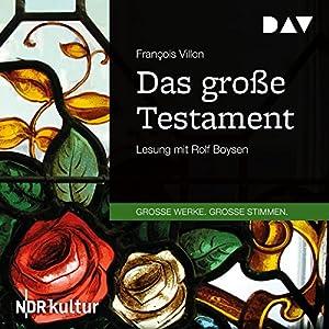 Das große Testament Audiobook