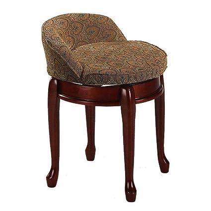 low back vanity stool  Amazon.com: Delmar Low Back Swivel Vanity Stool, LOW BACK, TAPESTRY ...