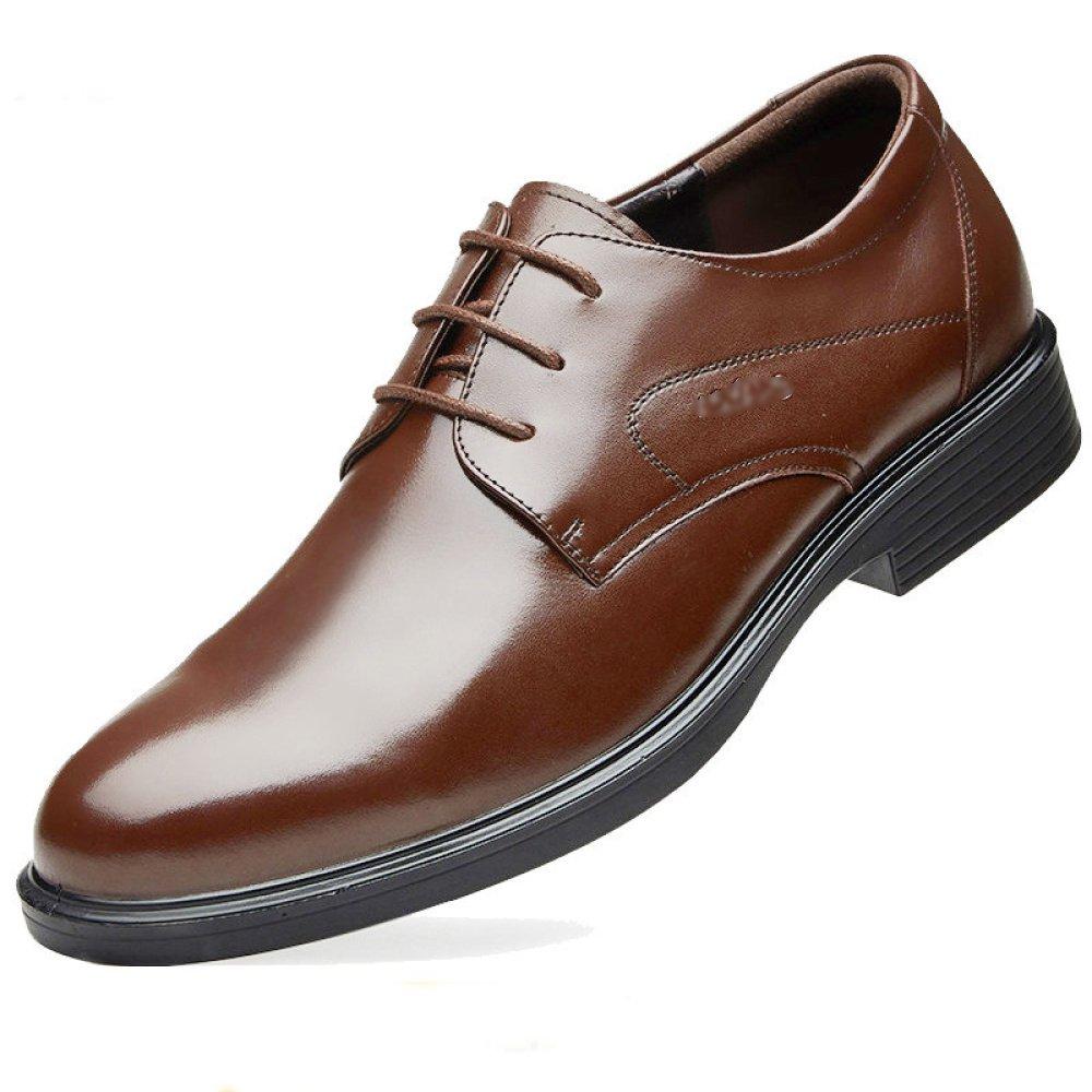 Hombres Zapatos De Cordones Casuales Derby De Negocios Ocasionales con Punta De Cuero Marrón Brogues Zapatos De Boda Uniformes EU44/UK8.5 Brown