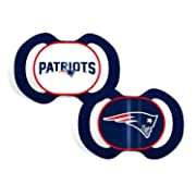 Baby Fanatic 2 Piece Team Colors Pacifier, New England Patriots