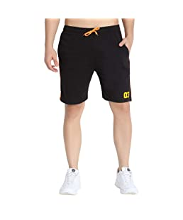 Trinity Jeans Company 03 Men's Basic Shorts for Gym or Casual wear (Black, XX-Large)