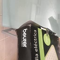 Beurer HKM100 Almohadilla eléctrica térmica, transpirable, tacto ...