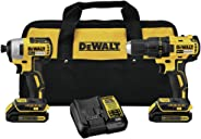 Dewalt DCK277C2R 20V MAX 1.5 Ah Cordless Lithium-Ion Compact Brushless Drill and Impact Driver Combo Kit (Renewed)