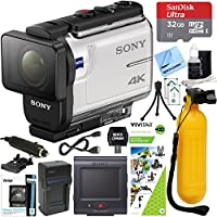 Sony FDR-X3000R 4K Action Camera with Live View Remote + Outdoor Action Kit & Accessory Bundle