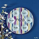 """Rite Lite 12"""" Seder Plate, Blue and Purple""""Joseph's"""