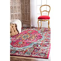 nuLOOM Traditional Vintage Mosaic Medallion Area Rugs, 3' x 5', Multicolor