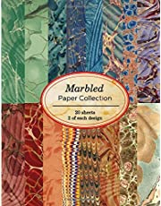 Marbled Paper Collection: 20 sheets of vintage marbled papers for bookbinding and other paper crafting projects