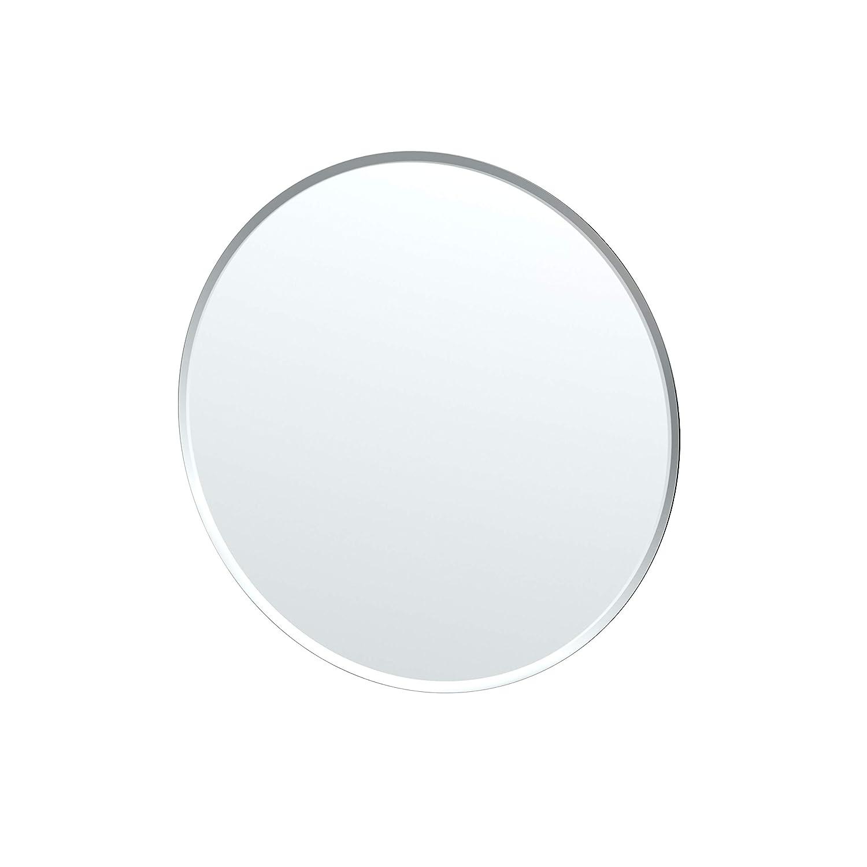 Frameless 24.5-inch Frameless Round Gatco 1823 Flush Mount Framed Rectangle Mirror, 25-inch, Chrome