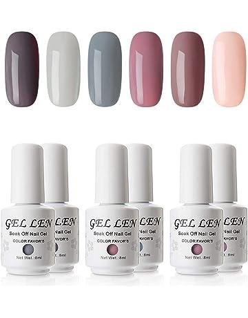 Gellen Gel Nail Polish Set - Nude Gray Series 6 Colors Nail Art Gift Box e9ab2f4b6afc